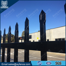 Spear Top Powder Coated Galvanized Steel Tubular Garden Fence Panel