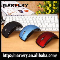 New ergonomic wireless mouse with folding 2.4Ghz wireless optical mouse arc touch mouse with factory price