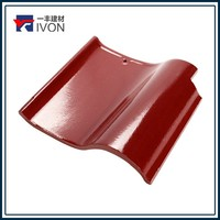 IVON roof tile paint red color shape clay roof tile