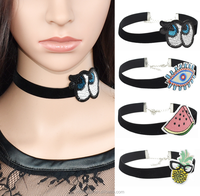 Fashion 2017 New Arrival Vintage Women Patches Choker Necklace For Sale