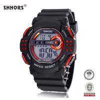 SHHORS new design EL light multifunction digital watch with PU band
