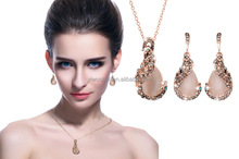 Wholesale Hot-sale in European and Amercian jewelry sets;Peacock earrings and necklace sets