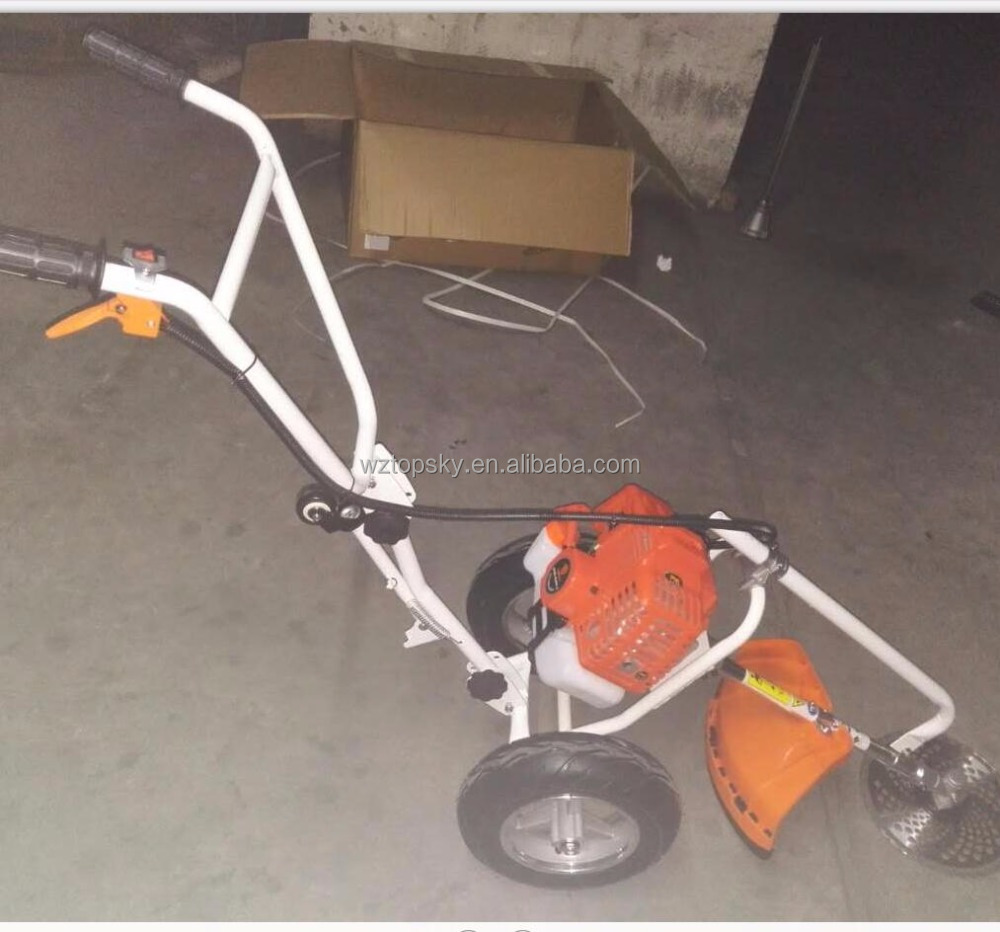 Hand Pushed Brush Cutter Grass Trimmer