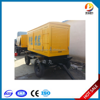 AC three phrase 4 wire 500KW China Yuchai mobile type diesel generator set with brushless dynamo and smartgen 6110