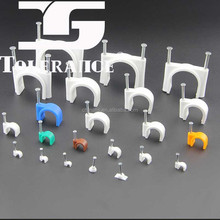 Circle cable clip plastic wall wire clip with export bangladesh