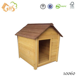 Eco-friendly wood dog kennel for sale