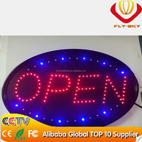 LED Open Sign, LED Business Open Sign Advertisement Board Electric Display Sign, Two Modes Flashing