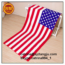 Soft Micro Fiber national flag printing beach towels