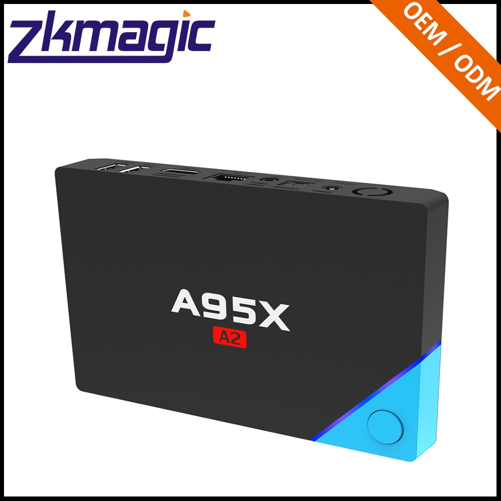 New TV BOX 4K Output AV Connect Whlesalee Zkmagic 1+16gb Android 6.0 smart tv set top box