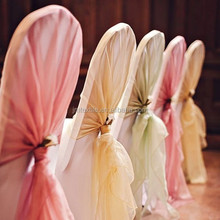 Good quality Crystal organza bows various color chair sashes for wedding chair cover