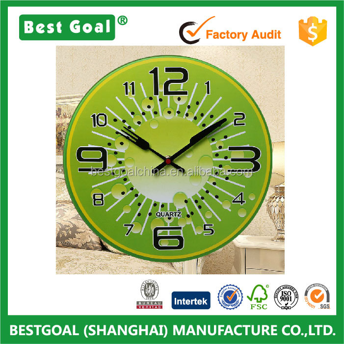 Fruit Design tempered glass wall clock