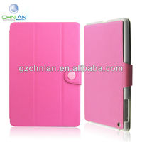 New arrival 3 fold protective flip leather smart cover for ipad mini