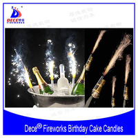 Dece Birthday Cake Candles Fireworks Ice Fountain