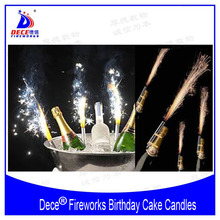 Dece Birthday Cake Candles Fireworks Ice Fountain