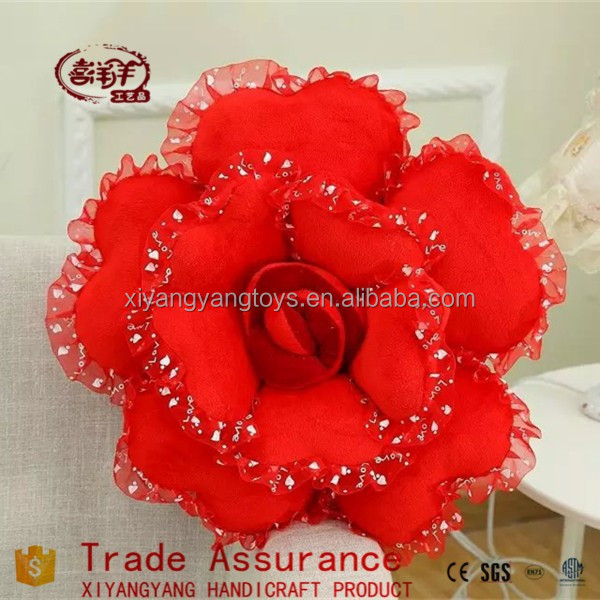 Hot sales Home Interior Decoration wedding good qualit Plush Rose Flower Valentine's day gifts