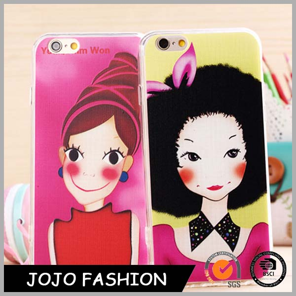 Hot selling customized cute and smart cartoon characters phone cases