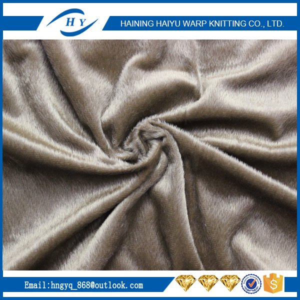 Factory Supplier velboa textile super soft material fabric of China