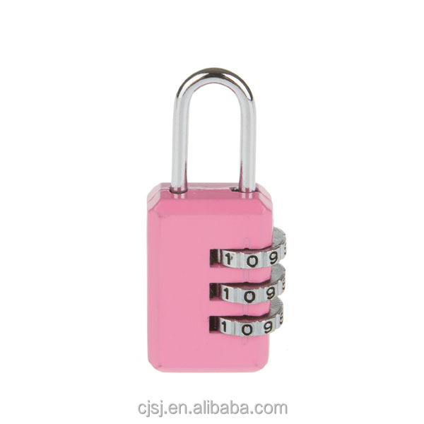 Factory Directly sale zinc alloy lock bag padlock with 3 digits
