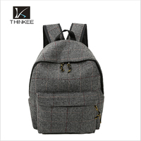Old style stripe cloth small bag backpack canvas
