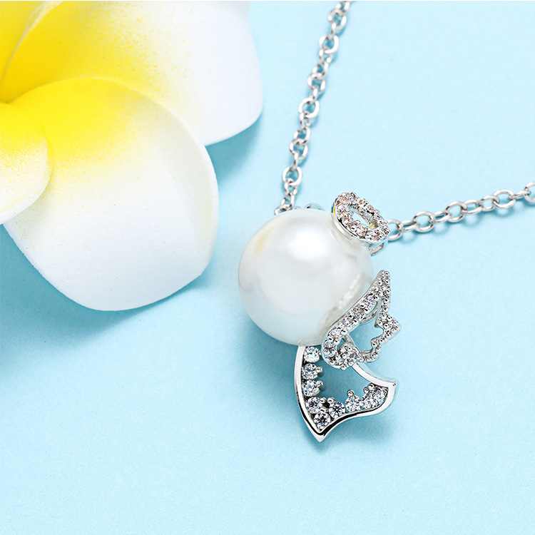 Factory price high quality fashion real white fresh water pearl necklace set