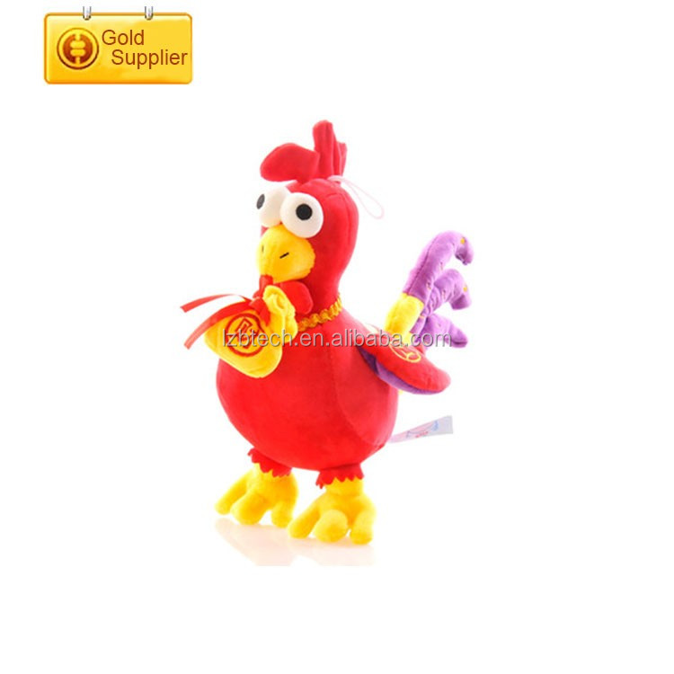 Custom cheap price small plastic toy chicken lovely yellow chicken shaped stuffed animals chicken plush toy
