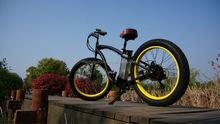 Fat Tire Electric Bicycle 26'' Wheel 500W 21ah Maxiam Speed 40km/h