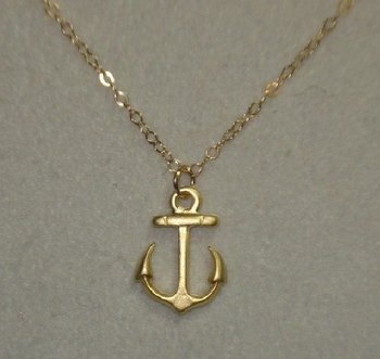anchor necklace 18K gold plated new design fashion necklace 2016