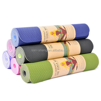 Customized ECO FRIENDLY TPE YOGA MATS
