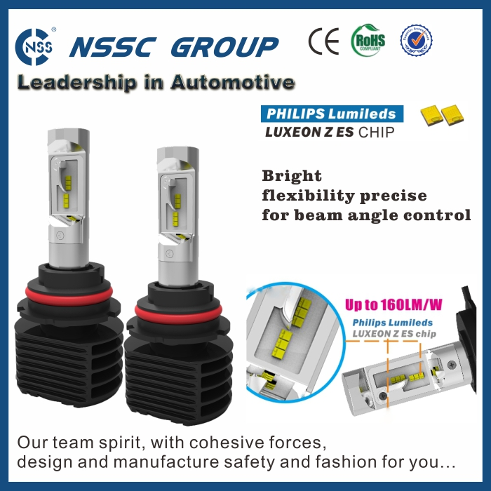 The highest lumen fanless led headlight NS 5S H3 with 3500lm 6000lux light for cars trucks motorcycle vios headlight restoration