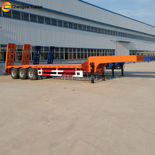 13meters Special purpose low-bed truck trailer chinese trucks trailer 12 wheels