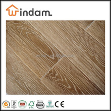 Best prices brushed and white washed Oak real solid wood flooring