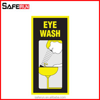 Luminous self-adhesive vinyl eye wash and safety signs first aid for snake bite