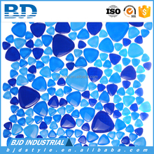 Directly Manufacture Pebble Irregular Crystal Glass Mosaic Tile