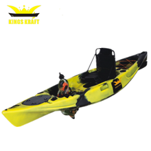 one person sit on top pedal drive fishing plastic kayak