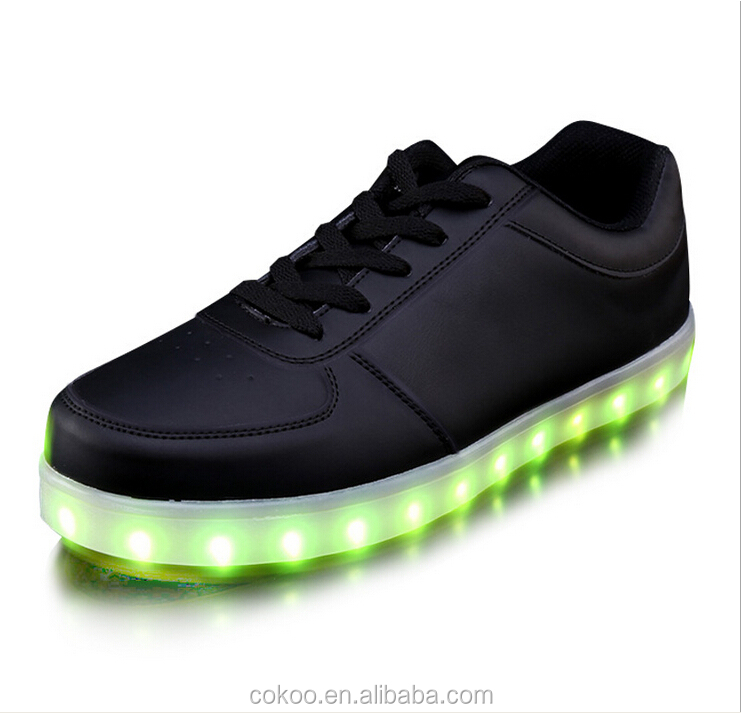 11 Color Basket LED Shoes 2016 Nice LED Shoes For Adults LED Light Up Shoes Luminous Chaussure Lumineuse Basket Femme