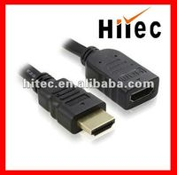 High Speed 1080P plug to jack hdmi cable