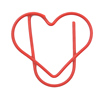 Custom made heart shape metal paper clip for scrapbooking