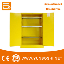 Yellow Safe Cabinet Laboratory With 3 Shelves