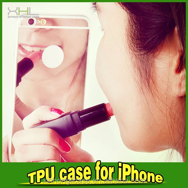 women's mirror case for iphone 6 ,make up case for iphone6