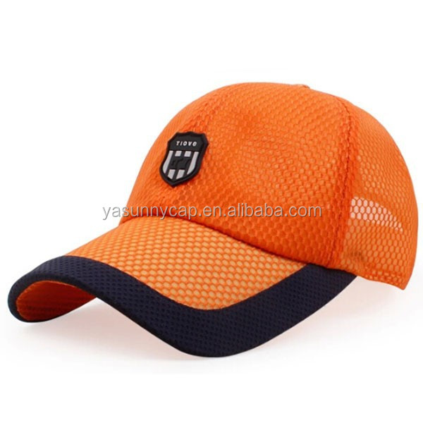 2015 hot sale top quality fast dry 6 panels mesh caps/mesh baseball cap