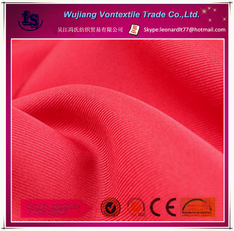 100% polyester twill gabardine fabric/customize colors for garment,work cloth,,sportswear,etc