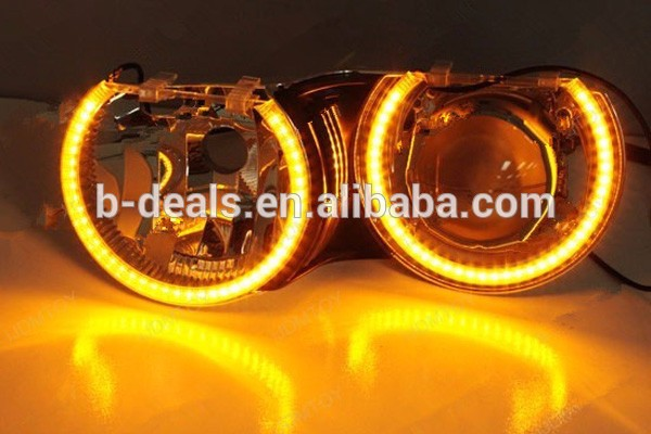 Accessories.car SMD Led Angel Eyes Lighting Dual Color White & Amber