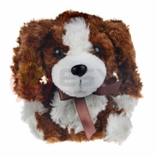 Battery operated baby cuddly musical plush dog toy