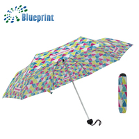 hot sale fashion style low price cost manual open 3 folding umbrella
