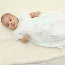 High quality newborn or toddler muslin summer baby sack sleeping bag baby