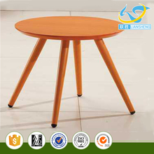 Coffee shop used leisure wooden round center table