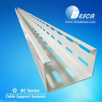 White Epoxy Polishing Spraying Powder Coated Perforated Cable Tray Prices Sizes