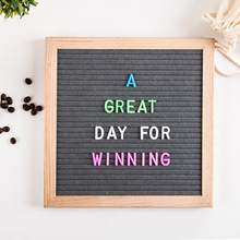 Most popular oak frame message board manufacturer handmade signs board custom size colorful changeable felt advertising letter b