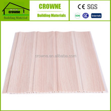 Interior Wood Grain Laminated PVC Wall Panel for India Market plastic bathroom wall tile panel