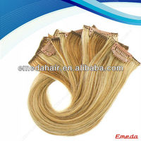 2014 new products from market hot beauty 5a grade clip in human hair extensions for black women